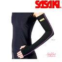新体操 ササキ スポーツ アームウォーマー (左右一組) HW-8044 【メール便可能】 SASAKI 体操 エクササイズ ホット ウェア 冬用 シーズン 裏起毛 腕 うで
