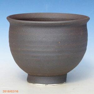 Shigaraki Ware فناجين من الطين الأسود فنجان شاي من النوع 4 (القطر الخارجي 12 سم ، ارتفاع 10 سم) [أدوات متفحمة سوداء] [yamano عشب عشب نبات عصاري صبار بونساي وعاء]