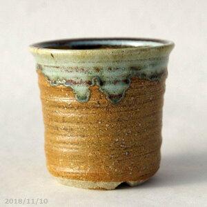 Shigaraki ware flower pot Kosendo kiln Nanban dragon sand glazed Takadai round pot No. 3.3 (B) (diameter 10 cm) [Yamano grass pot small wild orchid succulent plant pot cactus pot bonsai pot]