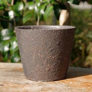 Shigaraki ware flowerpot Ya-Kamahada No. 3.3 (outer diameter 10 cm, height 8.5 cm) [Yamano grass small wild orchid succulent plant cactus bonsai small piece bonsai]