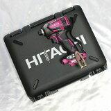 【ケース付】 日立 コードレスインパクトドライバ 18V WH18DDL2(NN)(R) パワフルレッド 本体のみ(バッテリ・充電器別売)