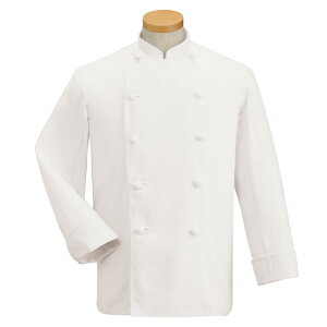 コックコート長袖KC-410[男女兼用]綿100%カツラギコットンホワイトサンペックスイスト調理白衣厨房飲食飲食店ユニフォーム