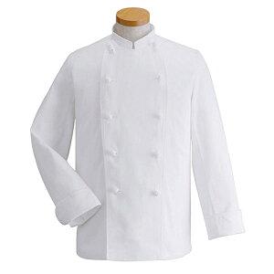 コックコート長袖TC-410[男女兼用]ポリ65%綿35%ツイルホワイトサンペックスイスト調理白衣厨房飲食飲食店ユニフォーム