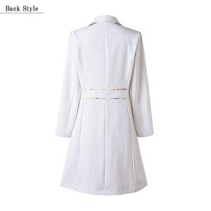 ドクターコート(長袖)LW102全2色[女性用]LAURAASHLEYローラアシュレイMONTBLANC住商モンブラン医療白衣看護師クリニックユニフォーム