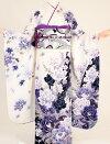 K3135白地黒紫花