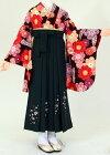 【着物・袴セット】S111/H037花わらべ桜茶/深緑桜刺繍