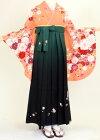 【着物・袴セット】S125/H059サーモンピンク花流れ/緑暈し桜刺繍