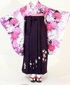 【着物・袴セット】SC320/HC320白地紫しゃくやく/紫桜流れ
