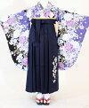 【着物・袴セット】SC323/HC310薄紫バラ花/紺桜刺繍
