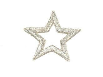 ☆!! Embroidered emblem ★ Silver Star ☆
