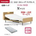 フランスベッド クォーレックス CU-202C レッグ キャビネット 2モーター ワイヤレス マイクロRX-V マットレス付き 電動ベッド 2点セット カラー2