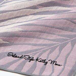 【キャシーマム】ガーゼマフラーハワイアンキルト柄ヤシの葉グレー34×160cm【綿100%三重ガーゼ】【アイランドスタイル】