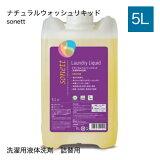 洗剤 洗濯 液体洗剤 詰替えソネット sonett ナチュラルウォッシュリキッド 5L【大人気】