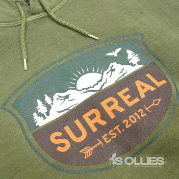 SURREAL(シュルリアル)nedPigment Dye Parker(pullover)(プルオーバー)(フード)(長袖)KHAKI(カーキ)(深緑)Lサイズ(surfing)(サーフィン)(skateboard)(スケートボード)