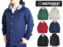 インディペンデント フード付きジャケット レインジャケット メンズ ナイロン Independent Mens Nylon Button Up Jacket・・・