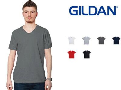 ギルダンGILDANVネックTシャツメンズ白S〜XLサイズ#64v00Softstyle4.5ozShortSleeveV-NeckT-Shirt