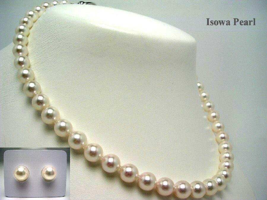 アコヤ真珠 8-8.5mm ネックレス ルース セット 8.5mm(セット:8.5mm) ホワイト SV シルバークラスップ 55452 pearl イソワパール:伊勢志摩の真珠専門店 IsowaPearl