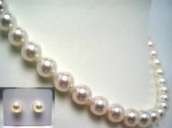 【送料無料】イソワパールアコヤ真珠8-8.5mmネックレスルースセット8.5mmホワイト55452pearl【対応_関東】~【四国】
