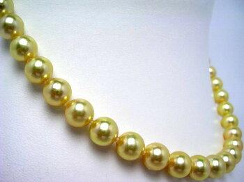 【送料無料】イソワパールアコヤ真珠ネックレス8.5-9mmゴールド(染め)シルバークラスップ56018pearl【対応_関東】~【四国】