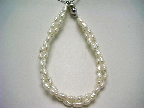 真珠 ブレスレット パール 淡水真珠 3.5-4.0mm ホワイト マグネット クラスップ 59831 イソワパール