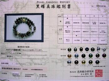 ★【厚巻良質】黒蝶真珠8.2−10.8mmマルチカラーネックレス★No20781真珠/黒蝶/ネックレス