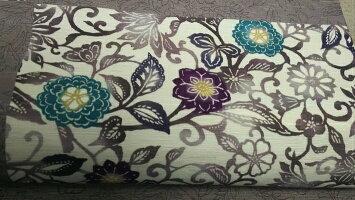 [送料無料]正絹京袋帯市松花更紗お仕立て上がりWAKKAカジュアル着物きもの紬小紋帯日本製名古屋帯
