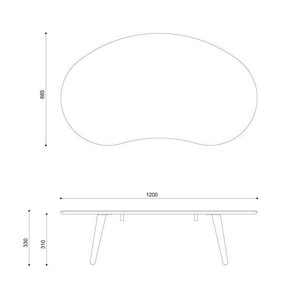 ISSEIKIMOFY120TABLE(ALDER)-モフィ120テーブル(ナチュラル)-