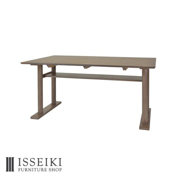 RoomClip商品情報 - リビングダイニングテーブル 4人掛け 幅140 テーブル ダイニングテーブル おしゃれ 北欧 食卓テーブル かわいい ナチュラル シンプル 家具 椅子 ウォールナット材 ウレタン塗装 ブラウン 品質保証 ISSEIKI MITE 101-00489