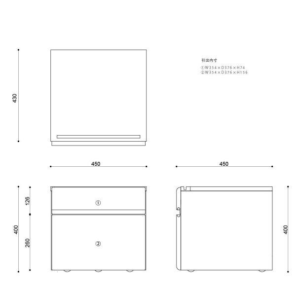 ISSEIKIKIDSFRINKPRINTERCART45(WALNUT)-フリンクプリンターカート45(ウォルナット)-