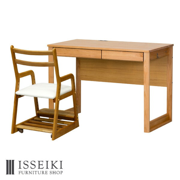 ISSEIKIKIDS【SET】L-DESK+LIFE(WH)2SET
