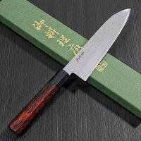 包丁三徳ステンレスプロ仕様槌目モリブデンバナジウム寛丈本刃付け日本製関市赤八角柄