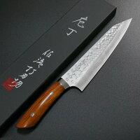 包丁切付牛刀210mm佐治打刃物槌目SRS13粉末ハイス鋼アイアンウッド佐治武士日本製