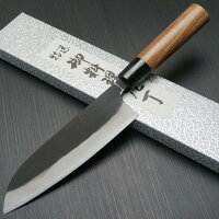 伝統工芸品越前打刃物山本作サクサク切れる安来青紙二号三徳包丁165mm