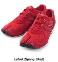 足袋型シューズ ラフィートジパング Lafeet Zipang(Red)【ウォーキングシューズ】【ジョギングシューズ】【足袋】【陸王シューズ】【岡本製甲】「ランニング」「靴」「運動靴」「メンズ」「レディース」「外反母趾」