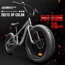 【送料無料】迫力の新極太タイヤファットバイク20インチちょうど良いサイズ!Wディスクブレーキ3D立体フレームシマノ7段変速20x4.0FATBIKE ビーチクルーザー おしゃれ 自転車EIZER アイゼル F120 限定色メッキ塗装仕上げ