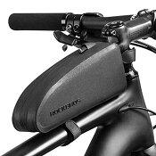 お買い物マラソン防水自転車フレームバッグトップチューブバッグ自転車用小物収納簡単装着シンプルROCKBROS(ロックブロス)【雨対策】【シックなデザインシリーズ】