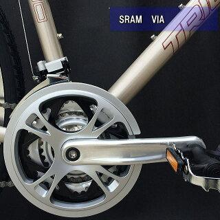 【街乗りクロスM310】TRIACEクロスバイクSRAM24SPEED軽量アルミフレーム1.6kg街乗り,通勤,通学数量限定