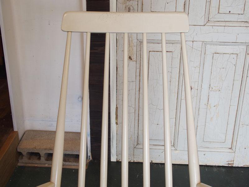 【北欧ビンテージ】【スウェーデン】【中古】ロッキングチェアー1seaterRockingchairスカンジナビアンscandinavian北欧家具ホワイトペイントスポークリビング書斎寝室椅子ビンテージ