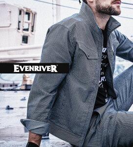 EVENRIVER イーブンリバーSR6007 長袖ジャケットメンズ ストレッチ 軽い カジュアル 作業服 作業着