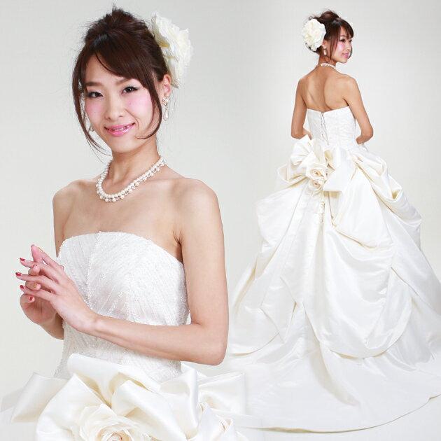 【ウェディングドレス 9号-13号】【Aライン】ウエディングドレス ドレス 貸衣装 海外挙式 海外ウェディング リモ婚 安い 格安 6419 【送料無料】【fy16REN07】【レンタル】