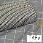 『TAF@ TOKYO APPAREL FABRIC』ポリエステルレーヨンファブリック素材:ポリエステル65%レーヨン35% 生地幅:約110cm秋冬/チェック柄/女の子/男の子/キッズ/大人/ハンドメイド/手作り/服/ウェアー/小物/