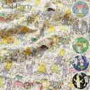 『Cat Party≪キャットパーティー≫』コットンリネンキャンバスプリント素材:コットン85%リネン15% 生地幅:約108cmネコ/猫/女の子/男の子/キッズ/綿麻/入園/入学/小物/インテリア/ハンドメイド/手づくり/・・・