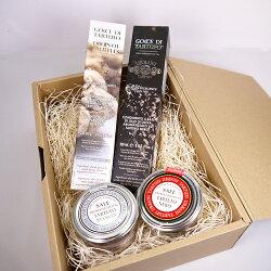 ウルバーニ社トリュフオイル(白、黒)トリュフ塩(黒、白)全4種セットギフトボックス付き