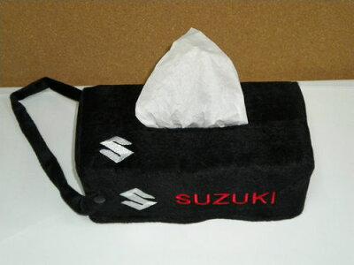 イタリアからお取り寄せの商品ですスズキSUZUKI鈴木のエンブレムでティッシュボックスケースカ...
