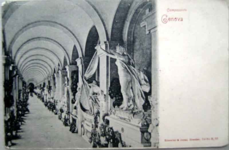 1900年発行のジェノバお部屋のインテリアにイタリアのアンティークショップで見つけた絵ハガキと切手 世界に1点!! 30年、50年、100年前のイタリア発行の絵葉書