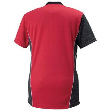 MIZUNO 【25%OFF】ミズノ ゲームシャツ(バレーボール)[ユニセックス] ホワイト×ブラックデニム×レッド