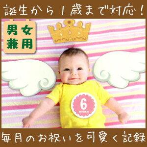 【男女兼用】誕生〜1歳まで毎月の写真を素敵に記録しよう♪ピックス&プロップス 赤ちゃん用 ホー…