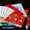 【茶道具セット】【定形外送料無料】茶道で女子力アップ入門5点セット (人絹赤帛紗)