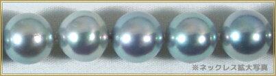【送料無料】パールネックレス【あこや真珠ネックレス】オールノット仕上げグレー2点セット<8.5mm>(アコヤ真珠)NE-1385