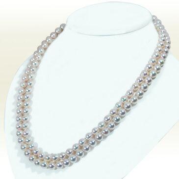 ホワイト系ロングネックレス (110cm)あこや真珠ネックレスパールネックレス<7.5〜8mm>アコヤ真珠 N-11174【当店のクーポンを是非ご利用下さい】